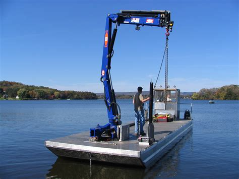 Boat Lift Barges For Sale by Barge Crane Barge Cranes Cleanup Grapple Crane