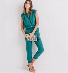 Combinaison Pantalon Femme Mariage : combinaison pantalon femme vert meraude promod mes ~ Carolinahurricanesstore.com Idées de Décoration