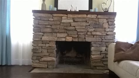Install Stone Veneers Over Old Brick Fireplace Diy Blue Color Living Room Designs College Setting Up A Chocolate Brown Ideas Lamps Uk Purple And Tan How To Decorate Ranch