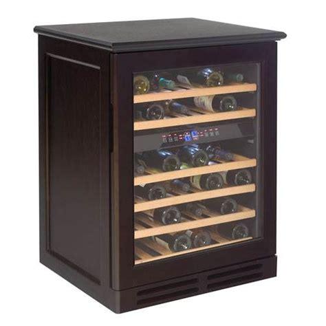 cabinet cooler avanti 46 bottle dual zone wood cabinet wine cooler espresso