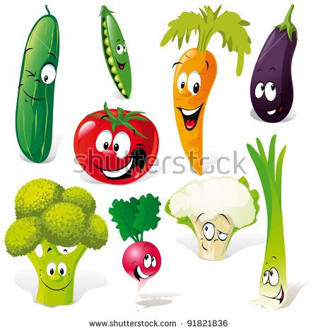 vegetable cartoon stock images royalty  images