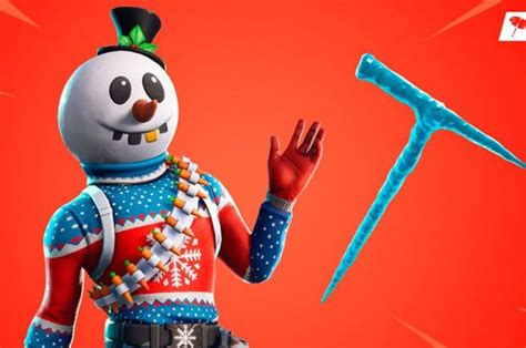 fortnite shop today slushy soldier snowman skin iceicle