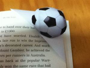 How To Make A Football Bookmark