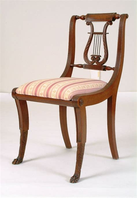 lyre back folding chairs important early 19th c american federal new york