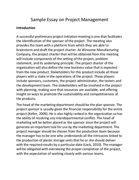 How To Write Proposal Essay  English Essay Book also Thesis Essay Examples Project Management Essay Examples Narrative Essay Sample Papers