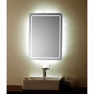 miroir sensitive led 70x50 cm planetebain With miroir avec led