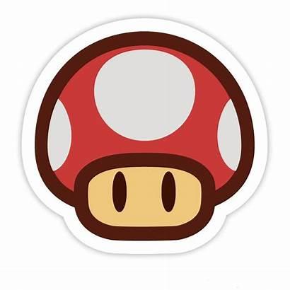 Sticker Paper Mario Giftpilz Stickers Mushroom Nintendo