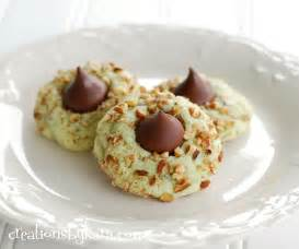 christmas recipes pistachio kiss cookies
