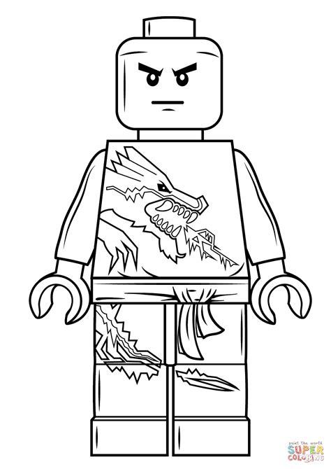 Lego Ninjago Zane coloring page   Free Printable Coloring