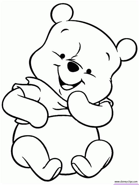 winnie  pooh baby coloring pages az coloring pages