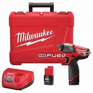 Milwaukee M12 Fuel Cordless Impact Wrench Kit  U2014 3  8in