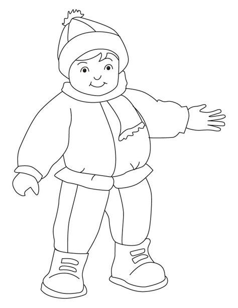 Coloring Clothes by Winter Dress Coloring Pages Free Winter Dress