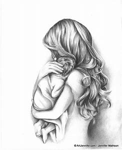 Girl Holding Feary Tender Moment Mother Holding Child