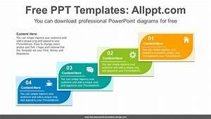 Leaf Shape Card Banner Powerpoint Diagram Template
