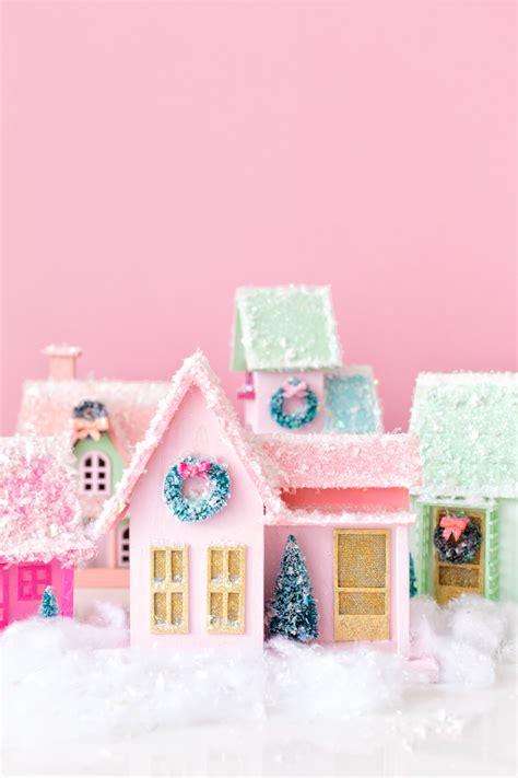 diy colorful christmas village studio diy