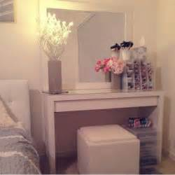 ikea malm vanity organizing make up pinterest make