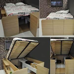 Verin Lit Coffre : fabriquer un lit coffre homeezy ~ Teatrodelosmanantiales.com Idées de Décoration