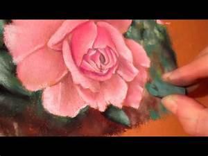 Peindre Au Pastel : tutoriel n 2 peindre une rose au pastel sec partie 4 youtube ~ Melissatoandfro.com Idées de Décoration