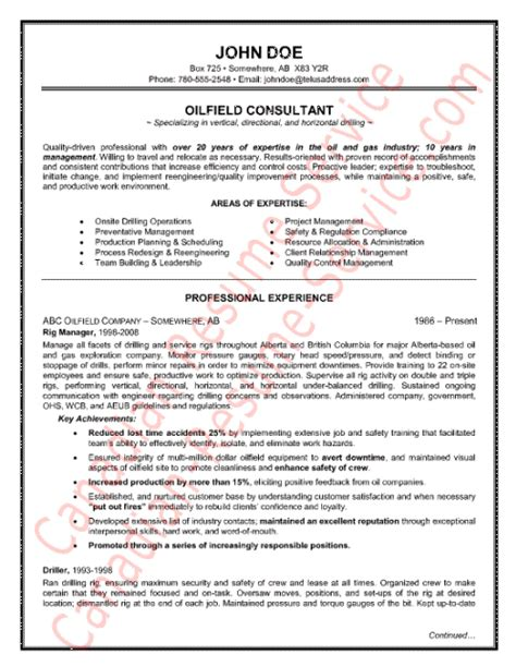 oilfield consultant resume templates field service technician resume