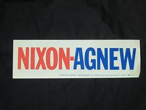 richard nixon bumper sticker b bill39s political shoppe With kitchen cabinets lowes with democrat bumper stickers