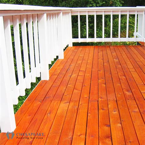 staining  sealing chesapeake painting services