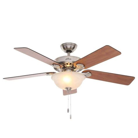 hunter 52 winslow brushed nickel ceiling fan hunter pro 39 s best five minute 52 in indoor brushed nickel
