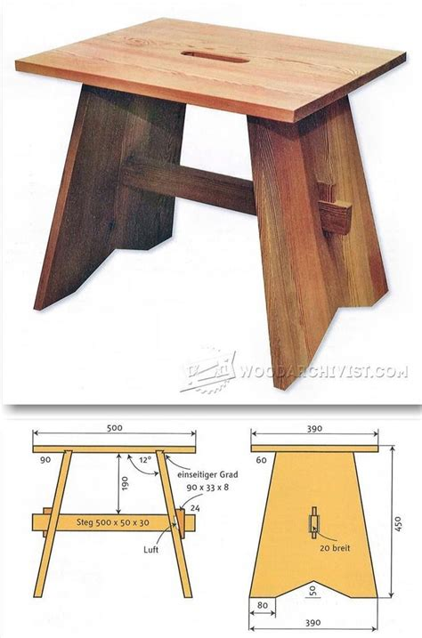 ideas  wood stool  pinterest stools benches  adirondack chairs
