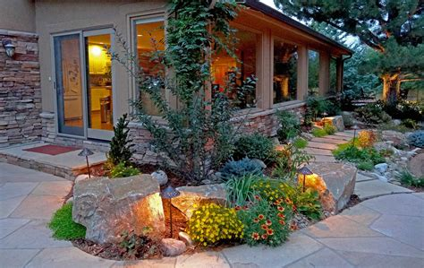 mountain landscape design rustic ranch and large scale landscape in greenwood village mile high landscaping