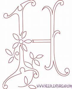Monogram for Hand Embroidery: Letter H – NeedlenThread.com