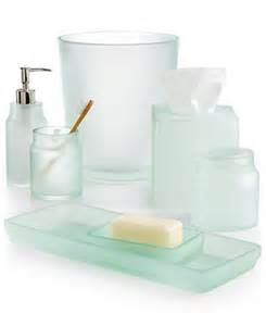 martha stewart collection sea glass frost bath accessories