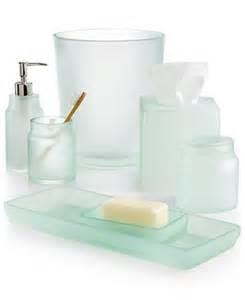 martha stewart collection sea glass frost bath accessories