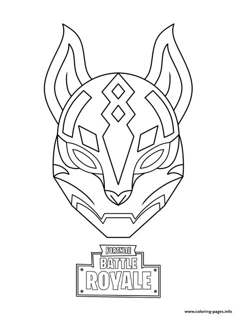 drift ultimate mask fortnite coloring pages printable