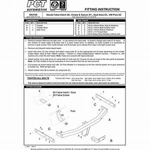 Skoda Fabia Estate Towbar Fitting Instructions