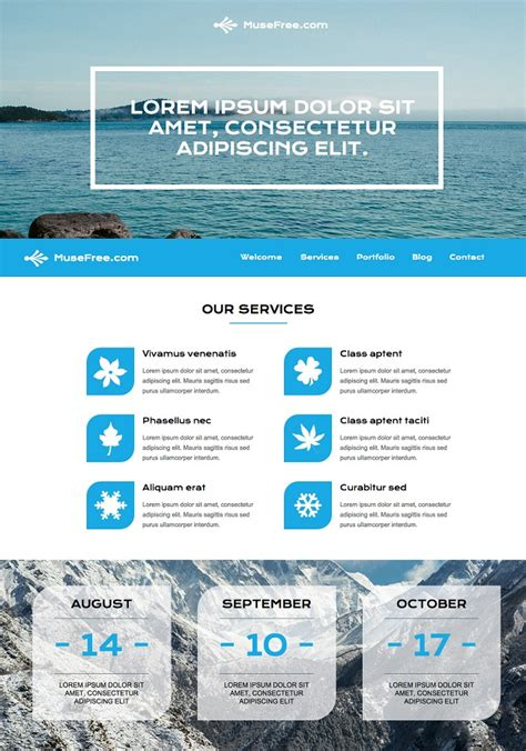Muse Templates Free 45 Best Adobe Muse Templates Free Premium
