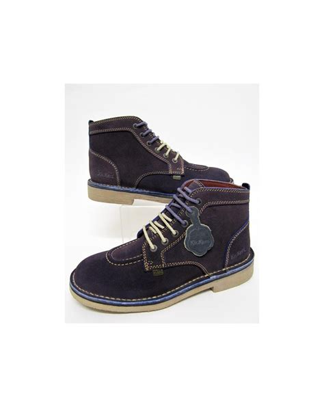 kickers legendary boots in suede purple legendary mens kickers boots