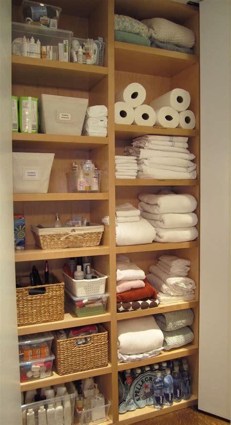 Bathroom Linen Closet Organization Ideas by T H E O R D E R O B S E S S E D What I Did Today
