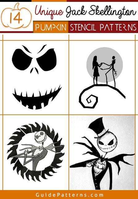 14 Unique Jack Skellington Pumpkin Stencil Patterns