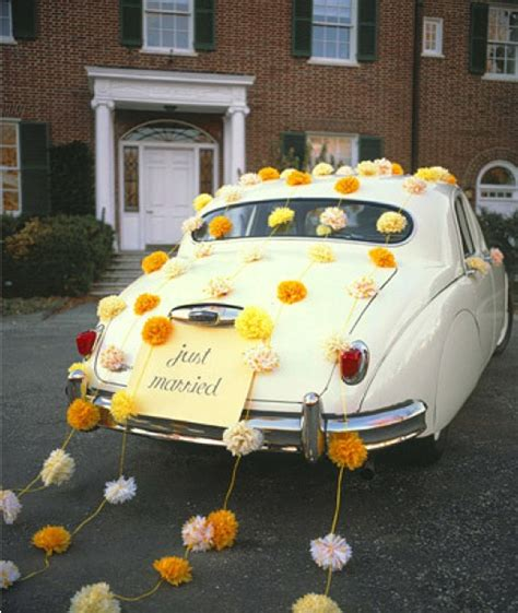 just married sign car decor entertaining events fetes