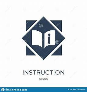 Instruction Icon In Trendy Design Style  Instruction Icon