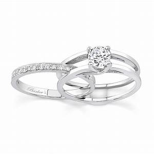 barkev39s white gold diamond engagement ring set 7145s With solitaire wedding ring set