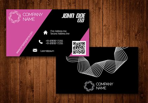 Pink Creative Business Card Business Plan Templates Free Ppt Plans With Less Investment Model Canvas Presentation Just Eat For Sale Osterwalder Pdf Office 365