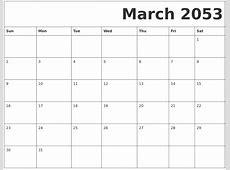 February 2053 Calendar Template