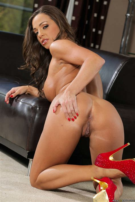 Abigail Mac in sexy red heels posing for your pleasure ...