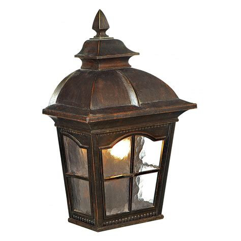 1576br brown half lantern wall light