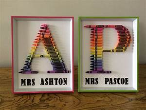 crayon letters teacher thank you gifts craft With crayon letters for teachers