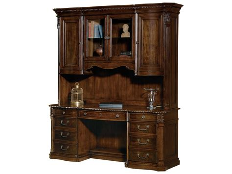 desk with credenza hekman office world walnut burl executive credenza