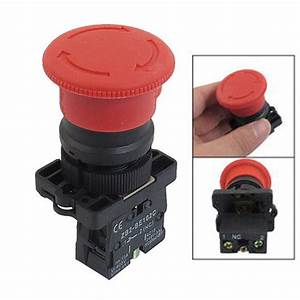7  8 U0026quot  Large Red Mushroom Emergency Stop Push Button Switch 600v 10a Nc 642610525773