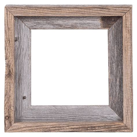 barn wood picture frames 8x8 2 quot wide signature reclaimed rustic barn wood open