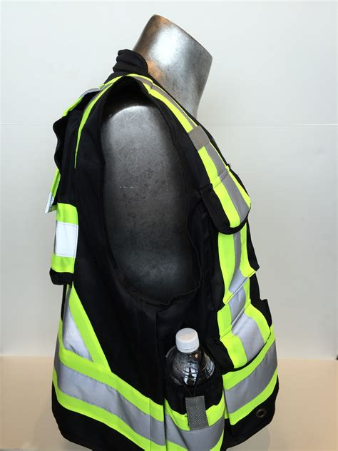 surveyors vest black   pockets columbia fire