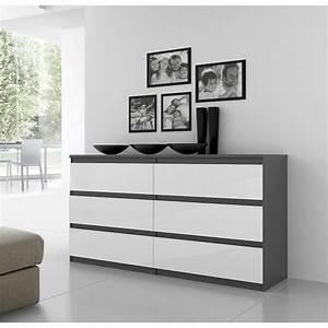 Commode Laqué Blanc : commode blanc laque topiwall ~ Teatrodelosmanantiales.com Idées de Décoration